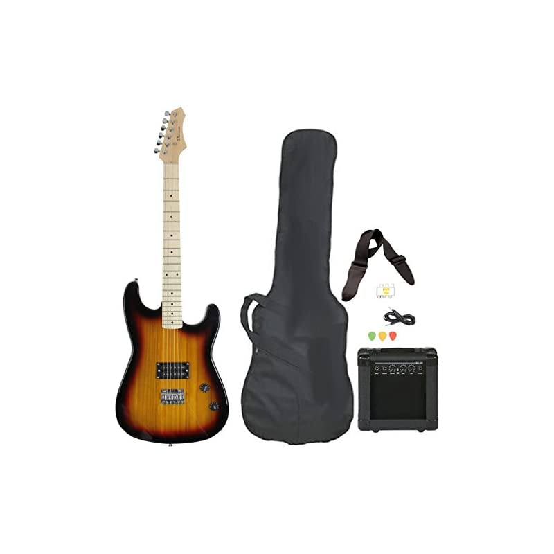 Full Size Electric Guitar with Amp, Case