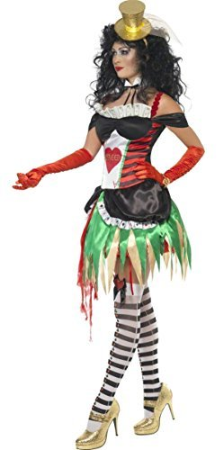 Ladies Sexy Gruesome Greed 7 Deadly Sins Halloween Circus Vegas Gambling Girl Hen Do Fancy Dress Costume Outfit UK -