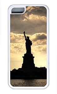 iPhone 5c case, Cute Statue Of Liberty iPhone 5c Cover, iPhone 5c Cases, Soft Whtie iPhone 5c Covers