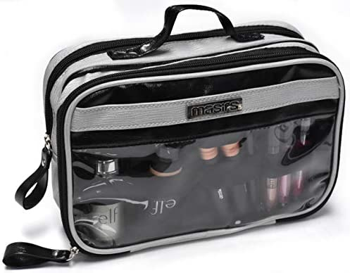 e2abb5344e16 Amazon.com : Cosmetic Toiletry Travel Bag - Zippered Pockets will ...