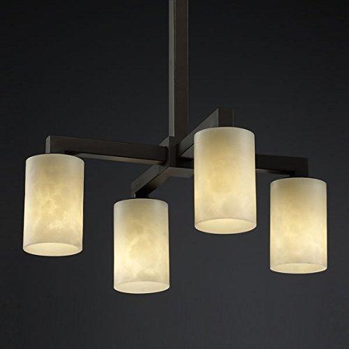 Justice Design CLD-8920-10-DBRZ, Clouds Modular Candle Chandelier Lighting, 4LT, 240 Watts, - Bronze Chandelier Dark Modular