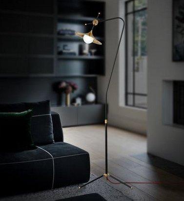 CU@EY Schmiedeeiserne Stehlampe, Dekoration, lesen, H157.5cm