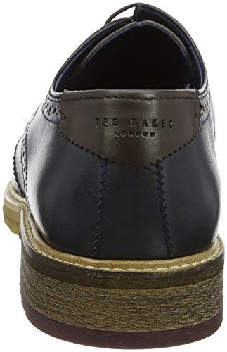 Ted Baker Prycce, Scarpe Stringate Oxford Uomo Blu (Dark Blue)