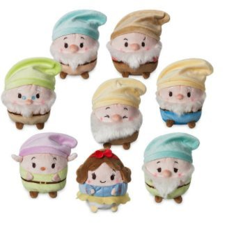 Disney Snow White And The Seven Dwarfs 4 1/2'' Scented Ufufy Plush set new