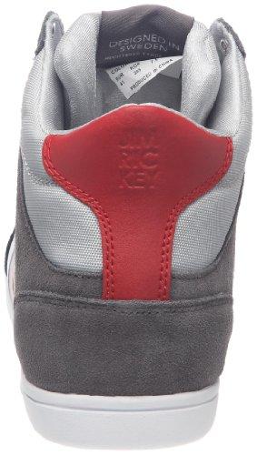 Jim Rickey - Zapatillas para hombre Gris (Grau (Gris foncé/rouge))