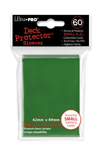 Ultra Pro Card Supplies YUGIOH Deck Protector Sleeves Green 60 Count ()