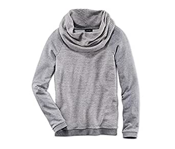Tchibo Grey Round Neck Pullover Top For Women
