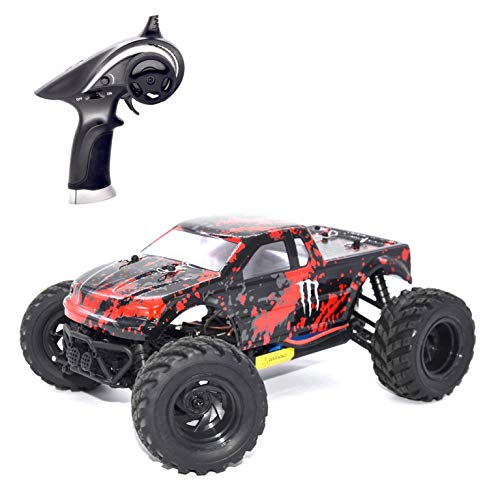 HAIBOXING RC Cars 1/18 Scale 30+MPH High Speed 4WD Electric Vehicle?2.4 GHz Remote-Controlled Electric All Terrain Waterproof Vehicles with Rechargeable Battery for Kids and Adults RTR (Red)