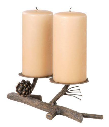 Stone Country Ironworks Pine Candleholder Double-Rust
