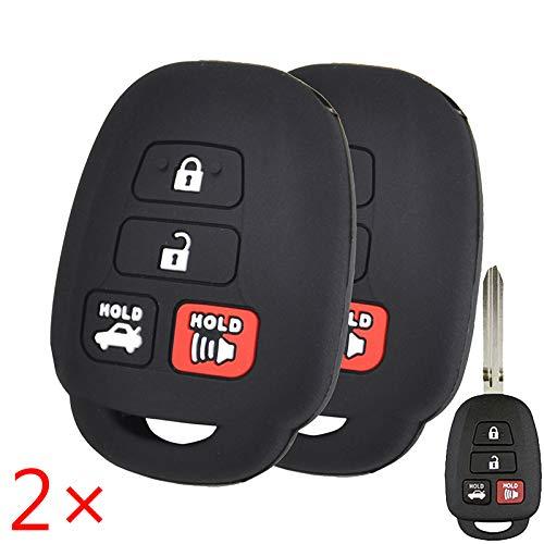 4 Button Silicone Car Key Cover Case For Toyota Scion Remote Fob Protector