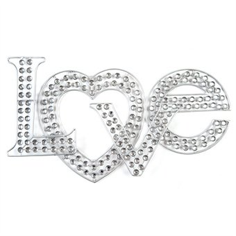 diamante sparkle silver love wall art with jewels boxed 46 x 255 x 45 cm quality