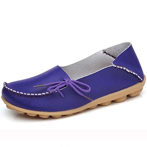SHANGXIAN Mujeres Plano Zapatos Del Barco Piel Genuina Zapatos De Enfermera Zapatos De Mamá Tacón Bajo Zapatos,C,US6.5(7)/EU37/UK4.5(5)/CN37 E