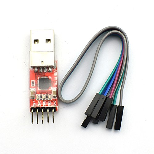 ZYAMY A61 CP2102 Module USB to TTL USB 2.0 Serial Module UART STC Downloader with 5 Pin Dupont (Usb Virtual Serial Port)