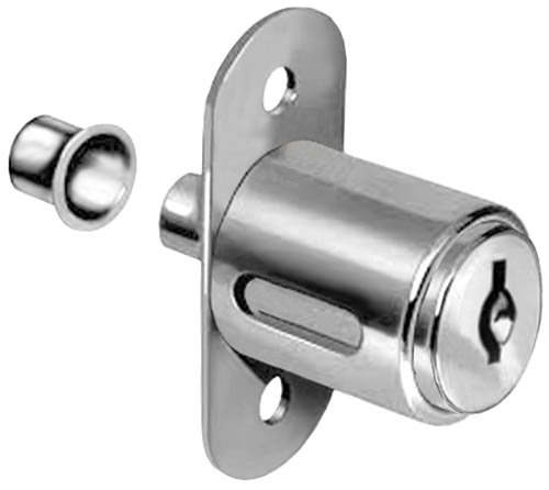 National Cabinet Lock C8043 - Aluminum Finish C413A Disc Tumbler