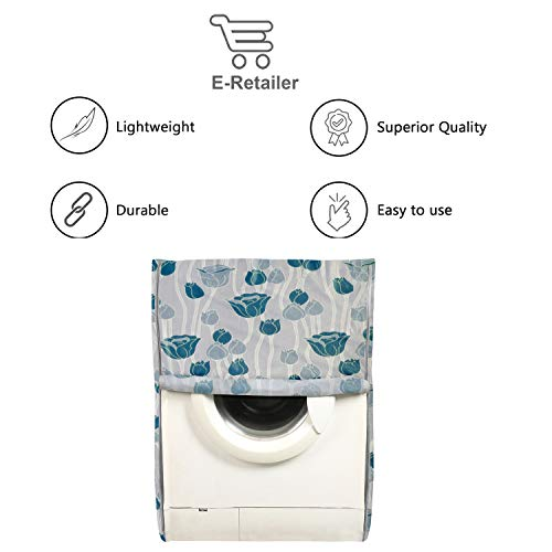 E-Retailer® PVC Waterproof Front Load Washing Machine Cover Suitable for 5KG to 7.5KG (Blue) 41%2BbswOa3gL India 2021