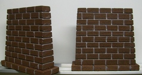 Model Railroad O Gauge Bridge Piers - Set of 2