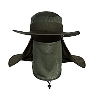 Ballylelly Cappello da Uomo Estivo Protezione Solare Cappello da Pescatore Cappello da Pesca Anti-zanzara per Esterni Protezione del Viso Protezione UV Cappello da Sole 2 spesavip