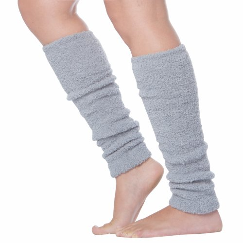CashLeg Luxury Cashmere Feel Tagless Knee-High Stretch Leg Warmers - Gray