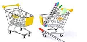 (MST/YELLOW) (Metal+plastic S-size High quality Mini-supermarket trolley) Fashionable Universal mobile phone holder /Pen /key / card