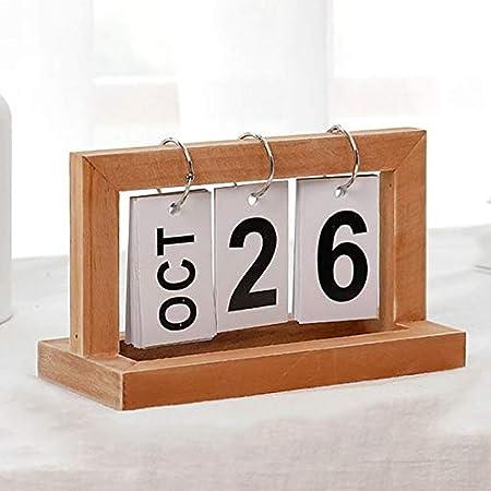 Calendario Oficina de mesa de madera de la vendimia Calendario ...
