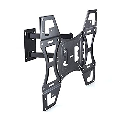 Sunydeal TV Wall Mount Corner Bracket for Most12 - 55 inch LCD LED Plasma Flat Panel Smart TV PC Monitor up to 79 lbs, VESA 400x400mm with Full Motion Swivel Articulating 20 inch Extension Arm