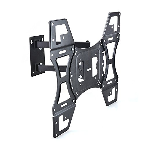 Sunydeal TV Wall Mount Corner Bracket for Most 12 - 55 inch LCD LED Plasma Flat Panel Smart TV PC Monitor up to 79 lbs, VESA 400x400mm with Full Motion Swivel Articulating 20 inch Extension Arm