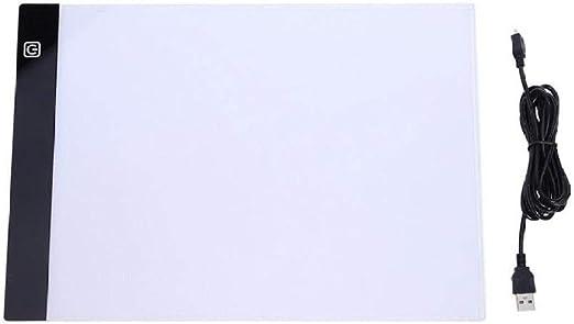 JZUO Mesas De Luz para Calcar A4 Tableta De Dibujo Led Tabletas Gráficas Digitales Escritura Electrónica Pintura Caja De Luz Rastreo Tablero De Copia Tabla De Almohadilla: Amazon.es: Hogar
