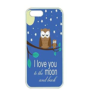 Case For HTC One M8 Cover ,fashion durable white side design phone case, pc material phone cover ,with I love you to moon and back Owl .
