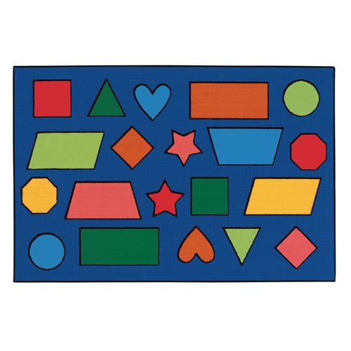 Carpets for Kids KID$Value Rugs Collection 48.76 Color Shapes 4ft x 6ft Rectangle