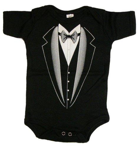 Tuxedo - Silly Baby Bodysuit, Black