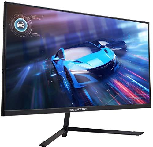 Sceptre IPS 27″ LED Gaming Monitor G-to-G 1ms HDMI DisplayPort up to 144Hz AMD FreeSync Premium Build-in Speakers, Edgeless Machine Black 2021 (E275B-FPN168)