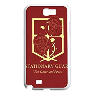 2014 Hot Sale Anime Attack On Titan Military Logo For Order And Peace Cell Phone Hard Plastic Cover Case (HD Image) For Samsung note2 N7100