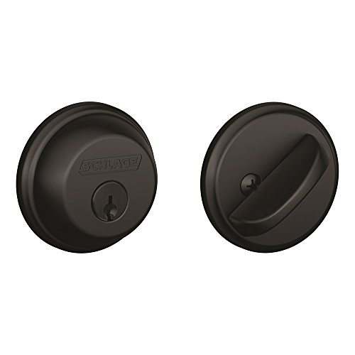 Schlage B60N622 Deadbolt, Keyed 1 Side, Matte Black ()