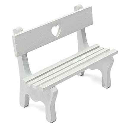 Super Amazon Com Toogoo R Mini Fairy Garden Wooden Chair Bench Bralicious Painted Fabric Chair Ideas Braliciousco