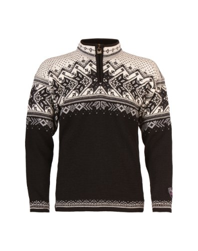 Dale of Norway Vail Sweater, Black/Light Charcoal/Smoke/Off White, Medium