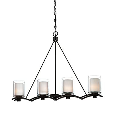 Artcraft Lighting AC1134OB Andover Four-Light Island Fixture, Oil Rubbed Bronze