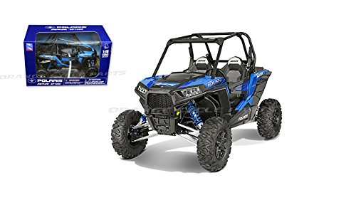 Orange Cycle Parts Die-Cast 1:18 Scale Model Replica Polaris RZR XP1000 Dune Buggy Voodoo Blue by New Ray Toys 57593B -
