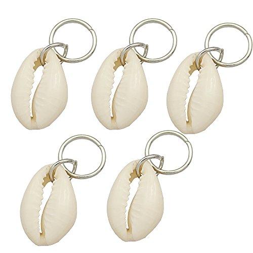 shion 5x Conch Rasta Wrap Mambo Beads Hoop Dreadlock Dreads Updo Hair Pin Dress Clip ()