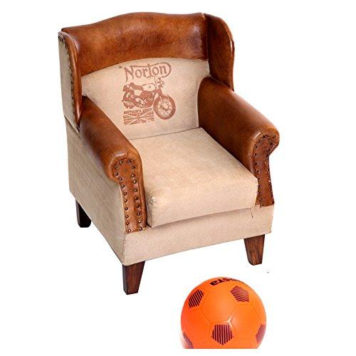 Indhouse Sillón Infantil Piel Textil Norton: Amazon.es: Hogar