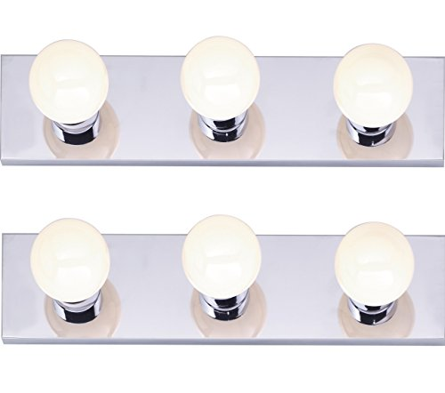 Nuvo Lighting - Three Light Vanity Strip, Polished Chrome, 18-Inch - 2 Pack (Seven Vanity Light Light)