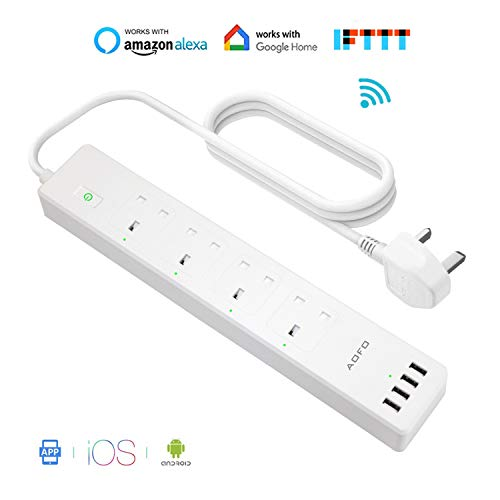 Wi-Fi Surge Protector Multi Plug Sockets with 3 AC Outlets 4 USB Port No Hub Required Power Strip LIMINK Smart Power Strip Remote Control Voice Control Works with Alexa Google Assistant and IFTTT