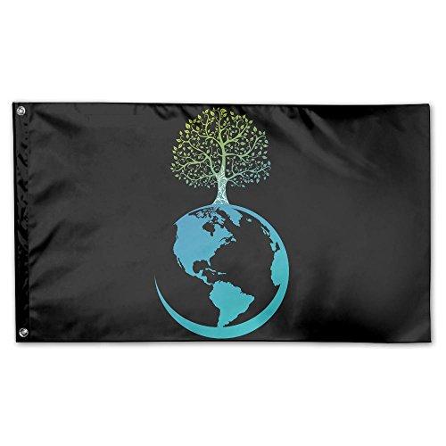 YUANSHAN Home Garden Flag Earth Green Tree Polyester Flag Indoor/Outdoor Wall Banners Decorative Flag Garden Flag 3' X 5'