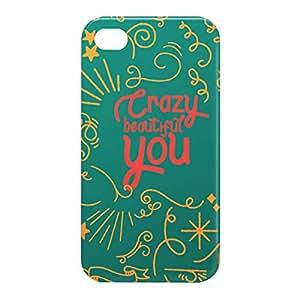 Loud Universe Apple iPhone 4/4s 3D Wrap Around Crazy Beautiful You Print Cover - Multi Color