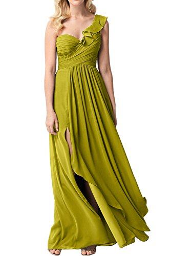 Chiffon A Promkleid Abendkleid Schulter Linie A Partykleid Ivydressing Linie Damen Elegant Olivgruen Ein qYIxnfp6