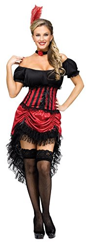 Fun World Women's Saloon Gal Costume, Multi, Small/Medium -