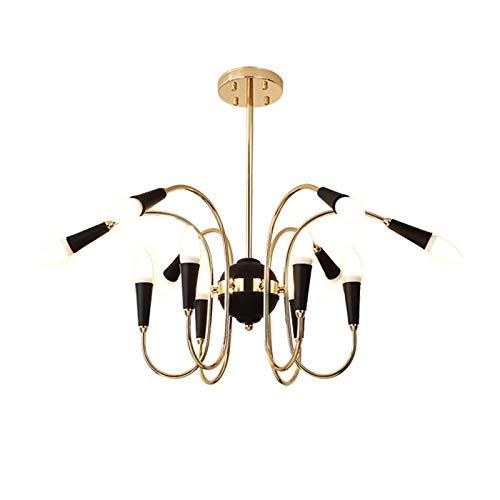 KY LEE Simple Restaurant Bedroom Multi-Head Lighting Modern Minimalist Living Room Personality Chandelier 12 Light