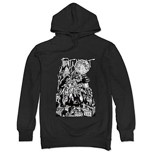 Men's Rat Sensei Ninjutsu Turtles TMNT Hoodie Black Large (Teenage Mutant Ninja Turtles Of Rats And Men)