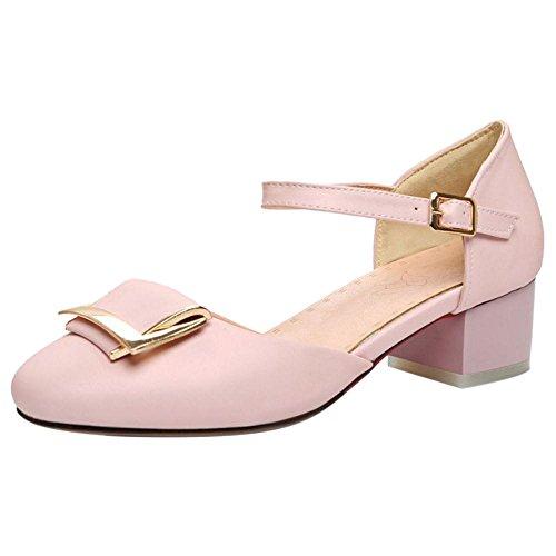 Women Heel Pumps Square KemeKiss Pink d6qxtvEw