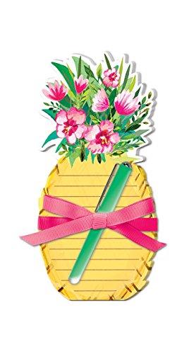 Lady Jayne Tropical Pineapple Die Cut Note Pad with Pen (Notepad Pineapple)