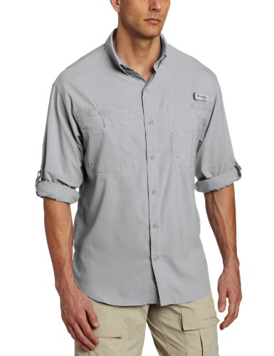 Columbia Men's Tamiami II LS Shirt,Cool Grey,M (Protection Ls)